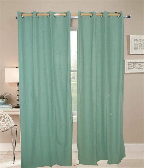 green cotton curtains gangotri overseas green cotton door curtain set of 2 buy