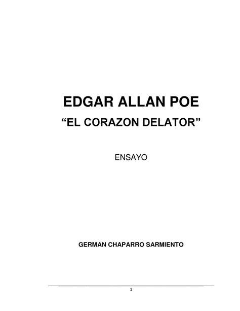 """Ensayo """"el corazon delator"""" by German Chaparro - Issuu"""