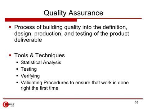 design assurance definition quality assurance control