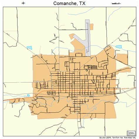comanche texas map comanche texas map 4816192