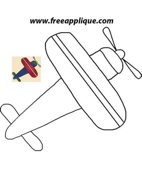 pattern plane video printable patterns airplane applique freeapplique com