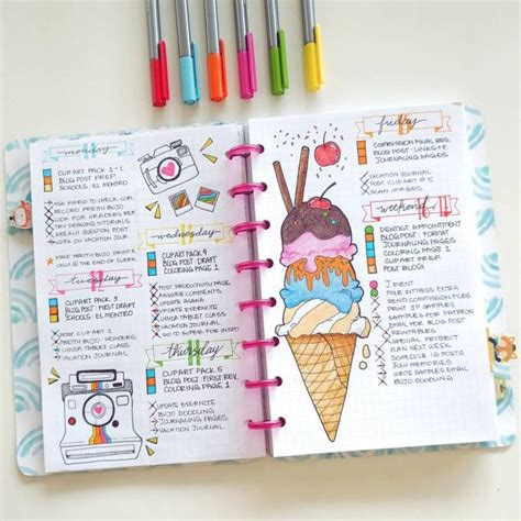 journal with design 7 summer spread ideas for bullet journals mom spark