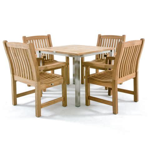 Teak And Stainless Steel Dining Set Westminster Teak High Quality Teak Outdoor Furniture