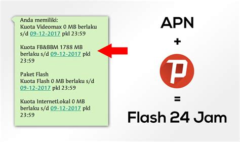 cara mengubah paket fb dan bbm menjadi flash dengan anonytun cara mengubah kuota chat fb dan bbm telkomsel menjadi