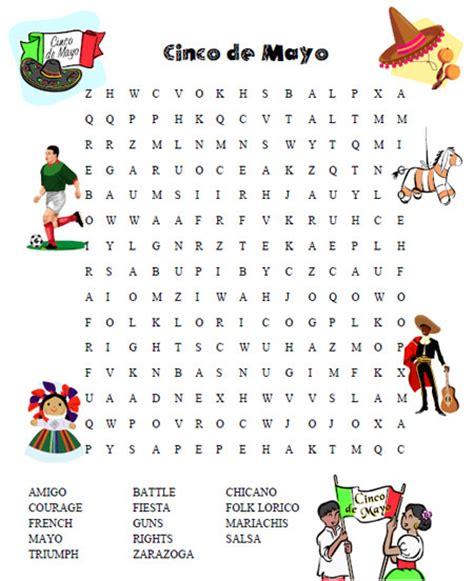 De Search Cinco De Mayo Word Search Printable Printable Treats