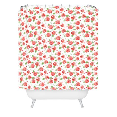 hibiscus shower curtain hawaiian hibiscus woven shower curtain wonder forest