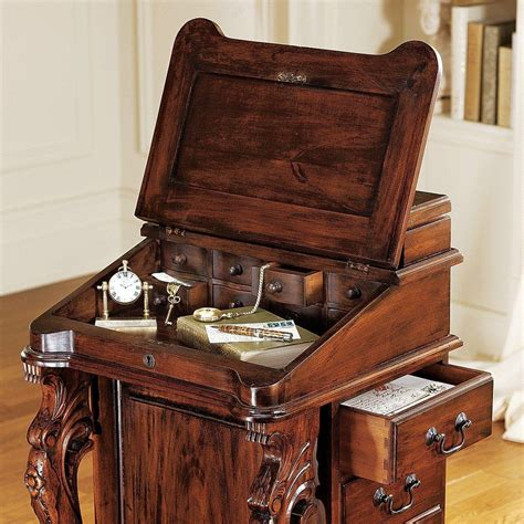 Antique Roll Top Desk Manufacturers by Design Toscano The Captain S Davenport Roll