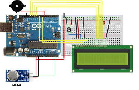 arduino gas leakage sensor with lcd display simple projects