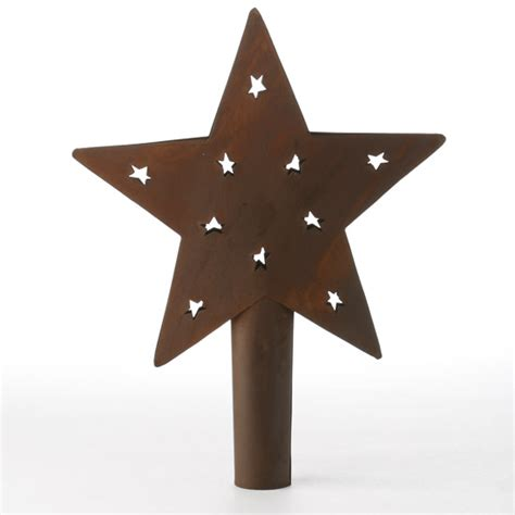 primitive rusty barn star tree topper christmas and