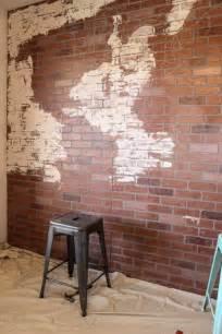 faux brick wall world map