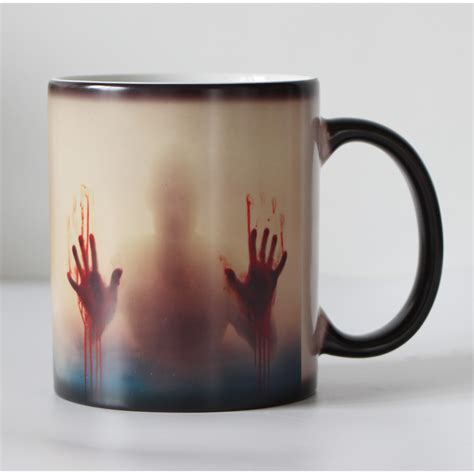 printed color changing mug temperature sensitive mug for gift buy printed color changing mug drop shipping black ceramic zombie color changing coffee