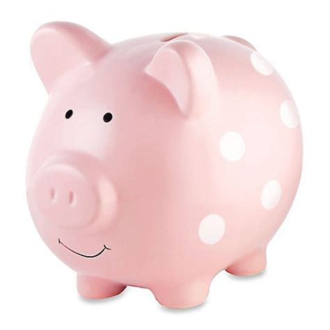 large piggy bank pearhead large ceramic polka dot piggy bank buybuy baby