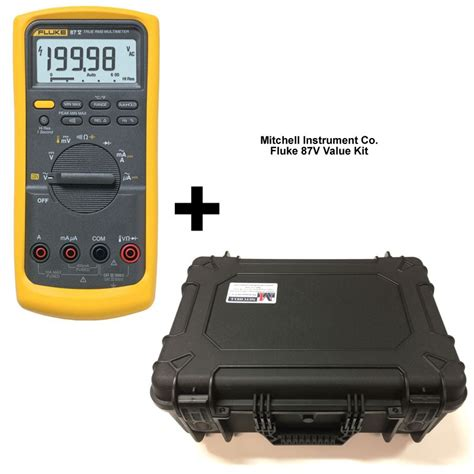 Multimeter Digital Fluke 87v fluke 87v industrial true rms digital multimeter value kit