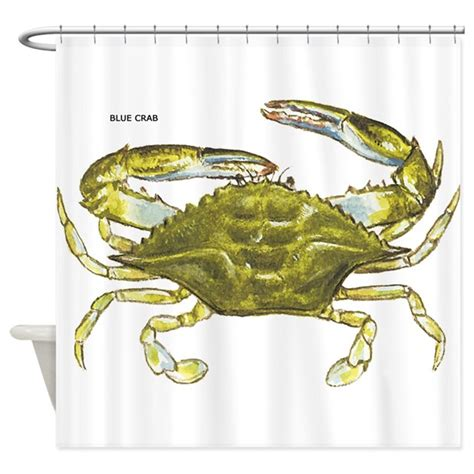 crab curtains blue crab shower curtain by animalartwork