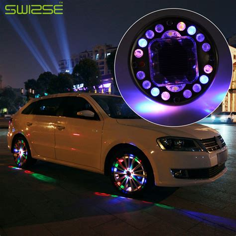 4pcs Lot Led Colorful Rgb Waterproof Flash Wheel Lights Led Lights Car