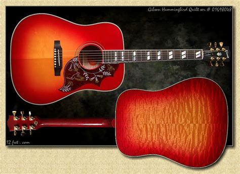 Gibson Hummingbird Quilted Maple by Gibson Hummingbird Custom Shop With Quilted Maple Back And