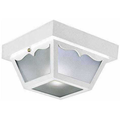 design house lighting products design house white outdoor ceiling light 501858 the home depot