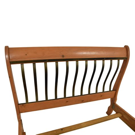 Metal Sleigh Bed Frame 86 Wood And Metal Sleigh Bed Beds