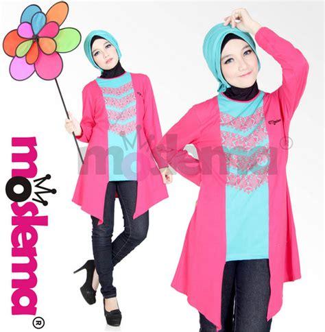Baju Muslim Bahan Kaos model baju muslim wanita bahan kaos terbaru 2016