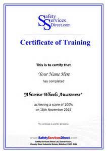 Asbestos Awareness Certificate Template Abrasive Wheels Online Training Course 163 20