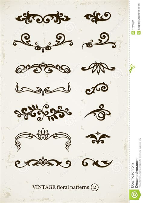 vintage ornamental pattern set of vintage decorative patterns stock photos image