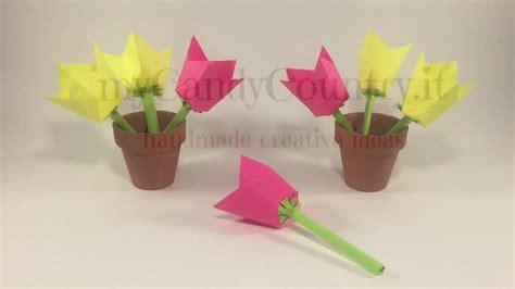 come fare fiori di carta come fare i fiori di carta con i foglietti da ufficio