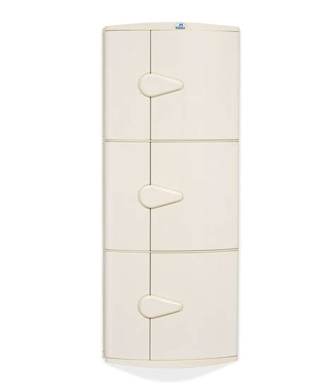 nilkamal bathroom cabinet online nilkamal corner cabinet 3d ivory buy online at best price