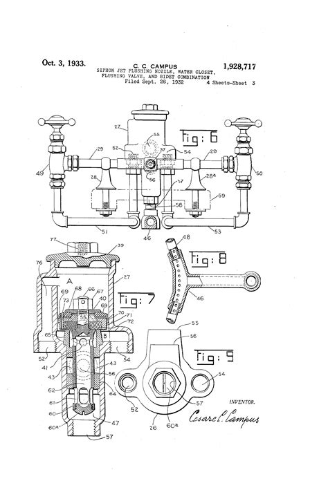 Patent US1928717   Siphon jet flushing nozzle, water