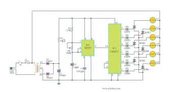 cheap home disco lights circuit by scr ic555 ic4017