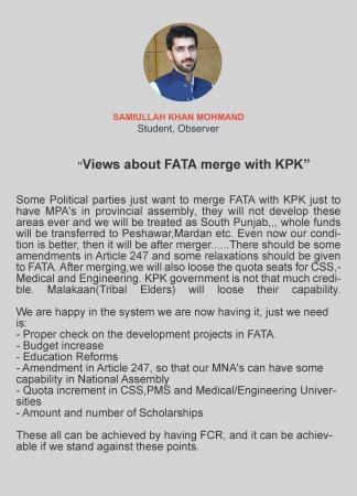 samiullah khan mohmand views on fata kpk merging