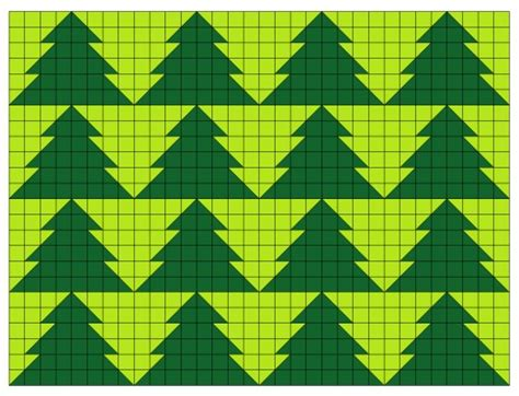 tessellating christmas tree or fir tree quilt pattern