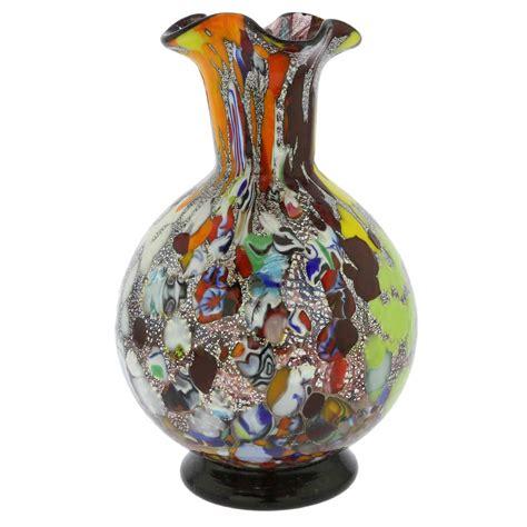 murano millefiori vase murano glass vases murano millefiori glass vase