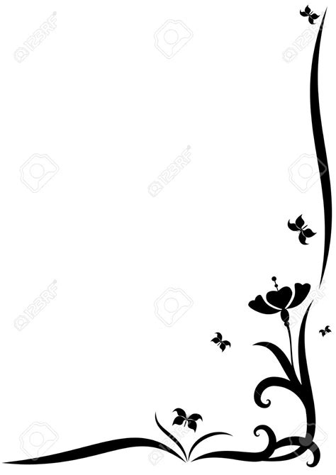 Wedding Clipart Black And White Border by Flower Borders Black And White Free Best Flower