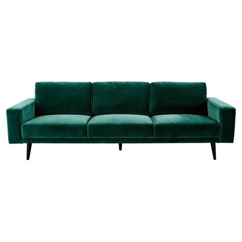 peacock velvet sofa 4 seater velvet sofa in peacock blue clark maisons du monde