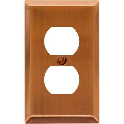 amerelle grayson 1 duplex wall plate copper and the home amerelle century 1 duplex steel wall plate antique