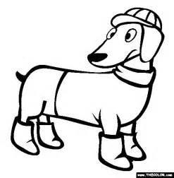 dachshund coloring pages 17 best images about dachshund coloring pages on