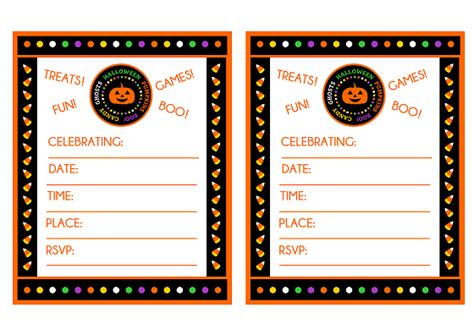 printable halloween party invitations print free quot candy corn quot halloween party printables from