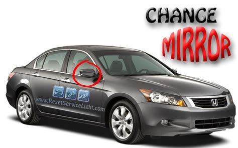 how to reset change light honda accord honda accord lx 2008 2010 right mirror replacement reset
