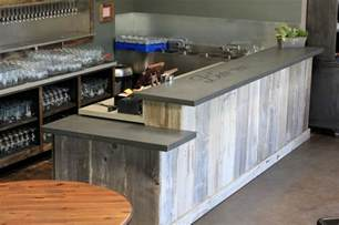 Decorating Kitchen Cabinet Tops concrete bar top craftsman basement san francisco