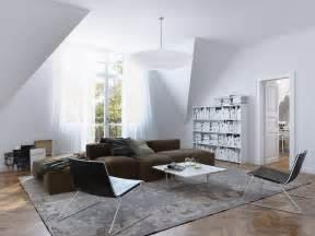 wohnungseinrichtung beige white brown living room scheme interior design ideas