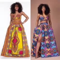 2 pcs dashiki african print set womens bandeau bra tops