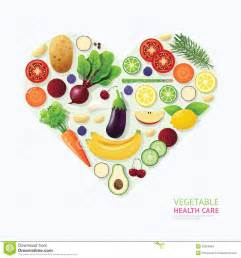 infographic vegetable and fruit food health care heart
