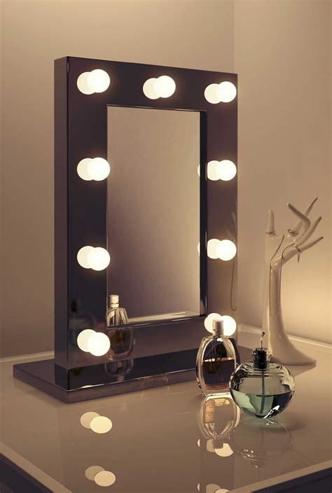 high gloss black makeup theatre dressing room