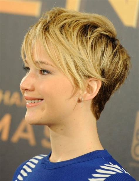 2014 short hairstyles for round faces jennifer lawrence short hair 7 stylish messy hairstyles for short hair popular haircuts