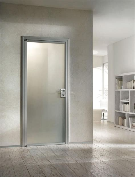 Interior Aluminum Doors Beautiful Aluminium Interior Door With White Frosted Glass And Aluminium Frame