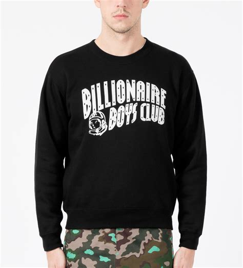 Sweater Billionaire Boys Club Abu billionaire boys club black arch logo crewneck