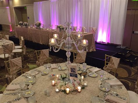 wedding candelabra centerpieces rental