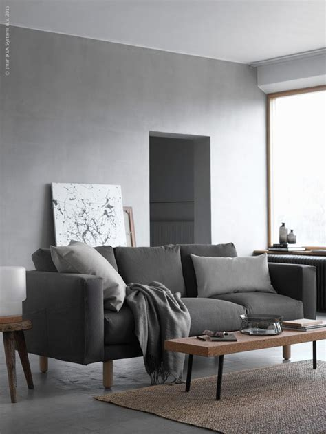 ikea living room sofa bed shades of grey norsborg nordic living room and living