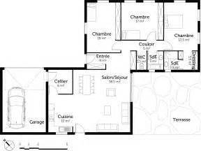plan plain pied avec 3 chambres et garage ooreka