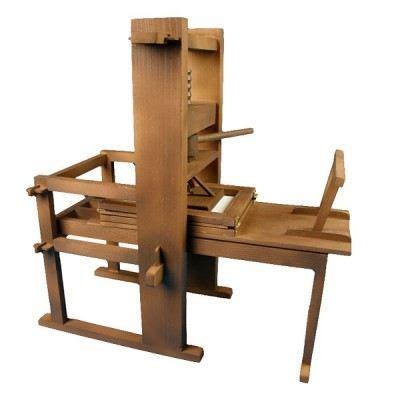 Maquettes en bois et métal   Imprimante Gutenberg   Achat